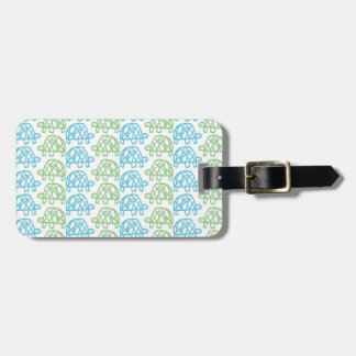 Double turtles luggage tag