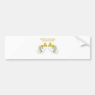 Double Unicorn Success Club Bumper Sticker