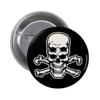 Double Vision Skull 2 Inch Round Button