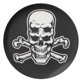 Double Vision Skull Party Plates