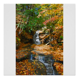 Double Waterfalls Poster/Print Poster