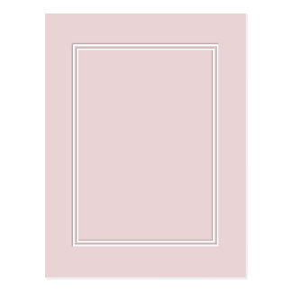 Double White Pin line Drop Shadow on Alice Pink Postcard