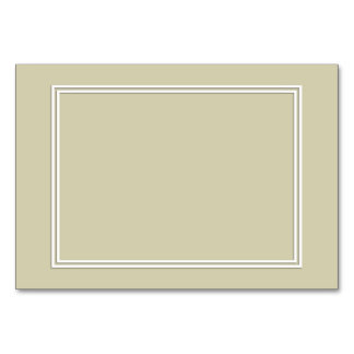 Double White Shadowed Border on Spanish Moss Green Table Card