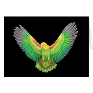 Double Yellow Headed Amazon Greeting Card