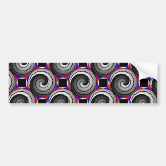 Double Yin Yang Spiral Bumper Sticker
