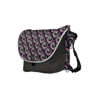 Double Yin Yang Spiral by Kenneth Yoncich Commuter Bag