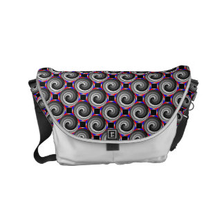 Double Yin Yang Spiral Messenger Bags