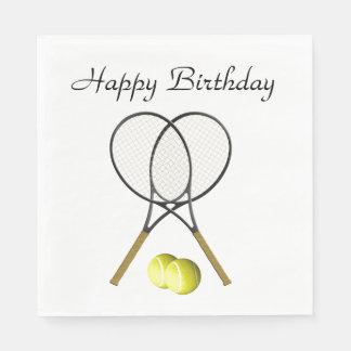 Doubles Tennis Sport Birthday Disposable Napkin
