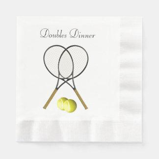 Doubles Tennis Sport Custom Paper Napkin
