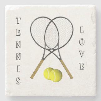 Doubles Tennis Sport Theme Personal Stone Coaster