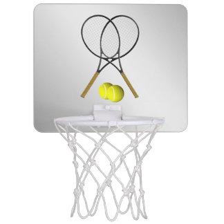 Doubles Tennis Sport Theme Silver Mini Basketball Hoop
