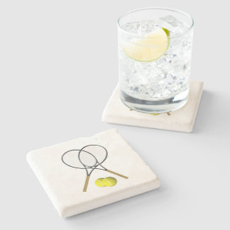 Doubles Tennis Sport Theme Stone Coaster