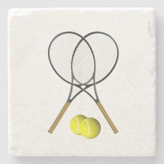 Doubles Tennis Sport Theme Stone Coaster