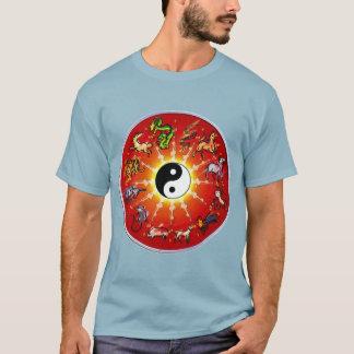 Doublesided Chinese Zodiac White/Black T-Shirt