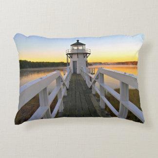 Doubling Point Lighthouse, Arrowsic Island, Maine Decorative Pillow