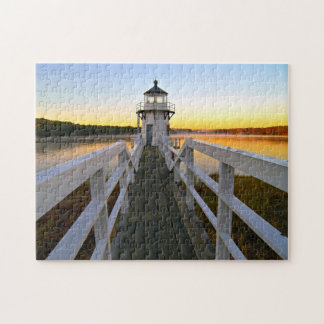 Doubling Point Lighthouse, Arrowsic Island, Maine Jigsaw Puzzle