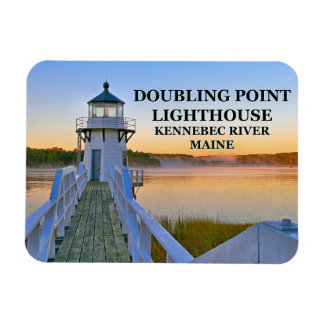 Doubling Point Lighthouse, Arrowsic Island, Maine Magnet