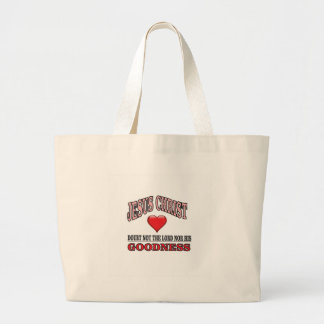 doubt not the lord or his goodness large tote bag