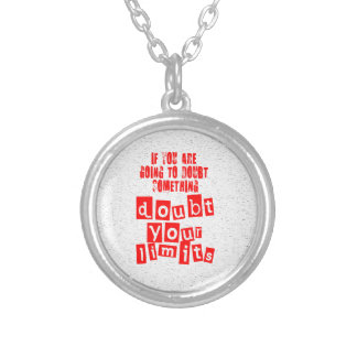 Doubt Your Limits Silver Plated Necklace