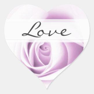 Doucement coeur de joint d'enveloppe de mariage autocollant en cœur