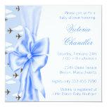 Douche bleue élégante de bébé d'avion cartons d'invitation