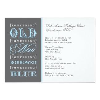 Douche nuptiale | quelque chose vieux nouveau bleu