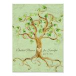 Douche nuptiale sage Antiqued par racines d'arbre Faire-parts