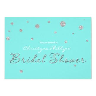 DOUCHE NUPTIALE Tiffany et carte moderne de Carton D'invitation 12,7 Cm X 17,78 Cm