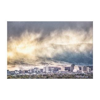 Douches d avril au-dessus de Reno Nevada Impression Sur Toile
