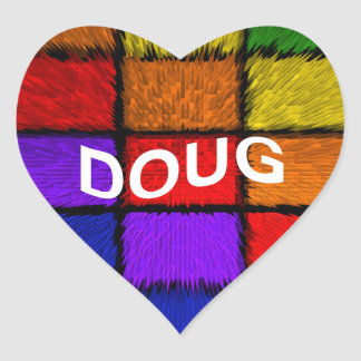 DOUG HEART STICKER