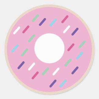 """""""dough-nutty"""" round sticker"""