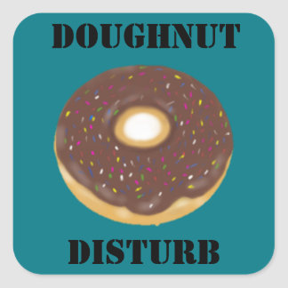 Doughnut do not disturb sticker