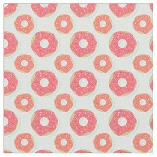Doughnut Donut Pattern, Pink and Blue Fabric