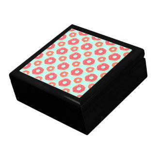Doughnut Donut Pattern, Pink and Blue Gift Box
