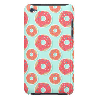 Doughnut Donut Pattern, Pink and Blue iPod Touch Case-Mate Case