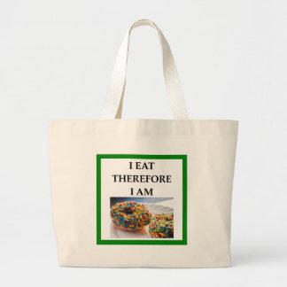 doughnut large tote bag