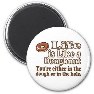 Doughnut Life Fridge Magnet