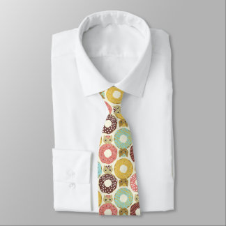 doughnut pattern  Restaurant  meeting tie