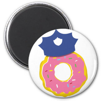 doughnut police officers hat 2 inch round magnet