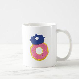 doughnut police officers hat coffee mug