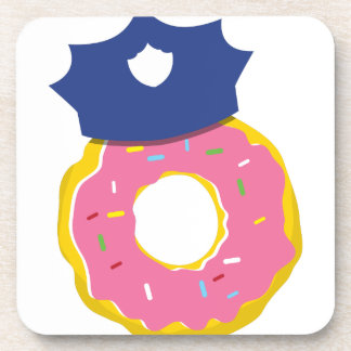 doughnut police officers hat drink coasters