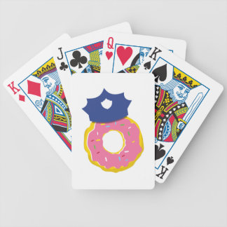 doughnut police officers hat poker deck