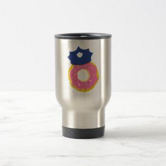 doughnut police officers hat travel mug