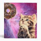 Doughnut Praying Cat Binder
