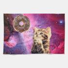 Doughnut Praying Cat Kitchen Towel