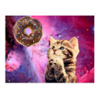 Doughnut Praying Cat Postcard