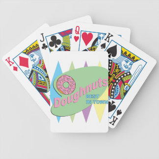 doughnut shop bicycle playing cards