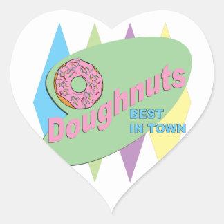 doughnut shop heart sticker