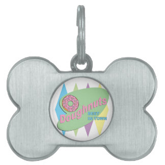 doughnut shop pet name tag