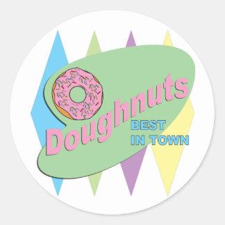 doughnut shop round sticker